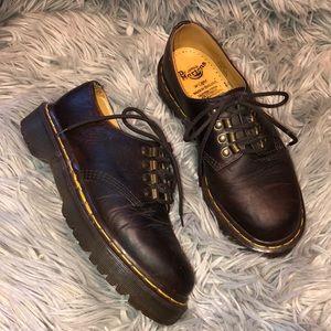 Vtg England dr martens brown leather loafer oxford